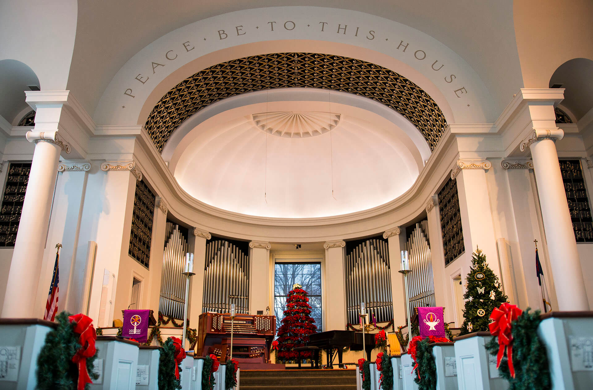 Memorial Presbyterian Church ready for a Christmas concert
