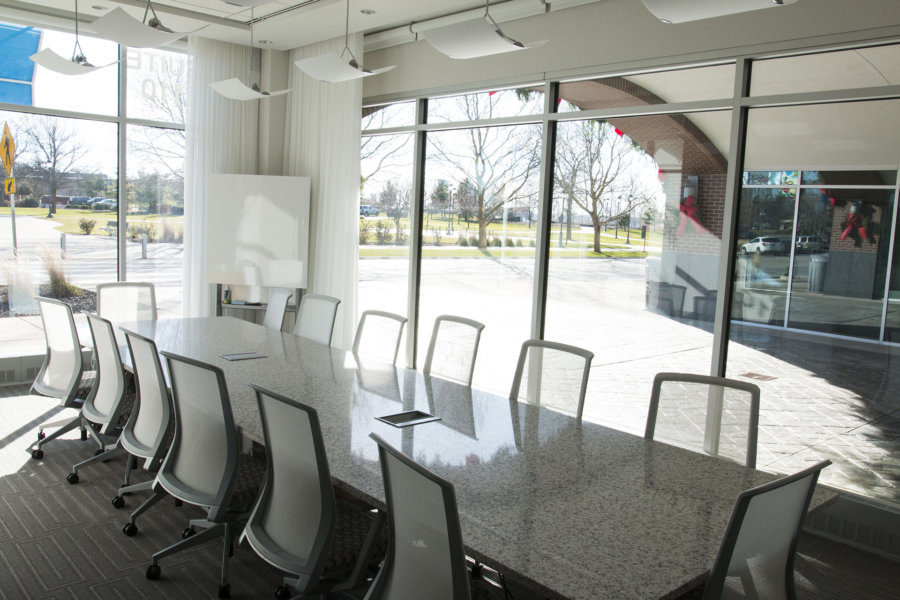 Conference table in Warner Norcross + Judd ofice