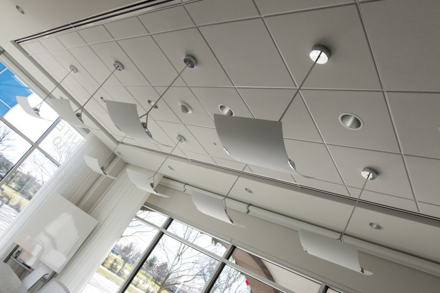 Ceiling of conference room in Warner Norcross + Judd ofice