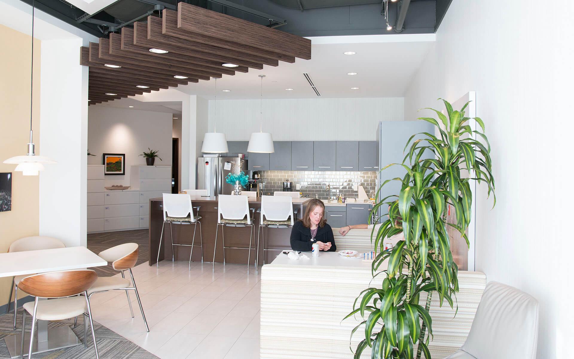 Kitchen & break room in Warner Norcross + Judd office